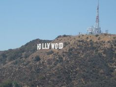 View of Hollywood sign from Griffith Park in LA.