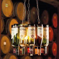 Wine Bottle Chandelier - Morgan Allen Designs