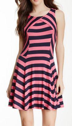 Ella Moss | Striped Fit & Flare Dress