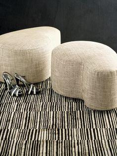 Giorgio Armani's New Home Collection - Armani Casa - curvy ottomans