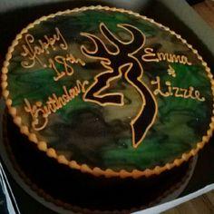 Browning birthday cake