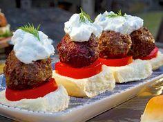 Greek Lamb Meatball Sliders with Tzatziki Recipe : Guy Fieri : Food Network - FoodNetwork.com