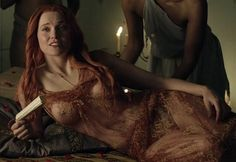 Lucy Lawless as Lucretia, in Spartacus