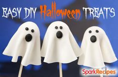 Super cute #DIY #Halloween #snack ideas! My kids LOVE these--so easy, too! | via @SparkPeople #fall #healthyliving