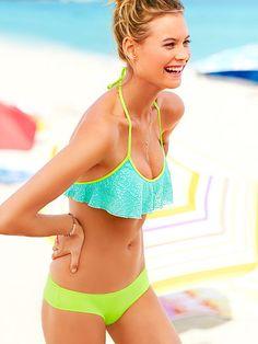 bath suit, victoria secrets, swimsuit, blue green, swim suit, white lace, beach, bikini, bright colors