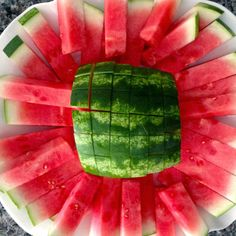 How To Cut Watermelon Sticks | Cookin' And Kickin'