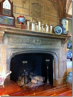 A Coronado Historic Home - fireplace designed and made by Batchelder