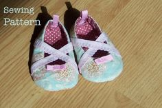 baby ballet shoes #sew #DIY