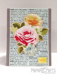 Newsprint Hello Card by @p Kelly Smith