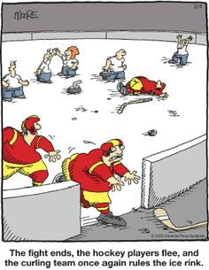it is thought that curling began in medieval Scotland