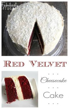 If you're looking for a special cake for a special occasion, look no further. This red velvet cheesecake cake is an amazing cake. Beautiful and delicious! Perfect for Christmas dessert or a Valentine's Day show-stopper. - See more at: fabulesslyfrugal....