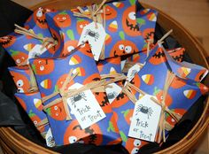 Halloween Pillow Boxes 12 party favors