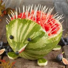 Hedgehog watermelon!!!