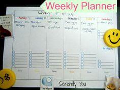 Weekly Planner Free Printable   @SerenityYou organ idea, organiz idea, weekly planner, planner printabl, planner free, free printabl, organization ideas, planners, week planner