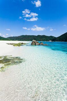 Aharen beach, Kerama Islands, Japan