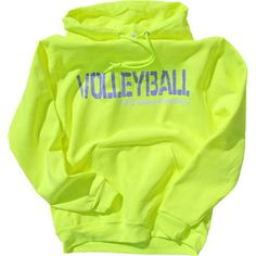 Yellow Tandem Ready To Play Volleyball Sweatshirt at Volleyball.Com