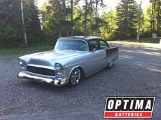JF Launier of JF Kustoms builds cars to be driven, including this #ProTouring 1955 Chevrolet