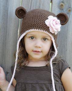 monkey earflap hat pattern boy & girl