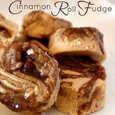 Cinnamon Roll Fudge - This look heavenly. Excuse me while I wipe the drool from my keyboard.
