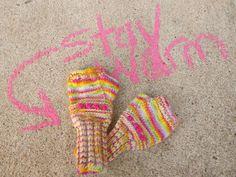 Beneath the Rowan Tree: Stay Warm :: A Kid's Fingerless Mitten Knitting Pattern