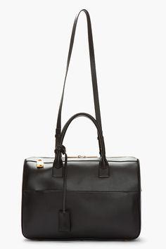 SAINT LAURENT Black Leather Bo Rive Gauche Tote...perfection #black #blackleather #blackbag #blackleatherbag #blackhandbag #leatherbag #leatherhandbag #designerbag #bagart #chic #minimalist #simplebag #fashion2014 #wishlist