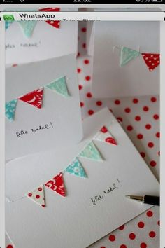 Bunting cards- so cute!