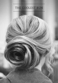 swirled beautiful bun