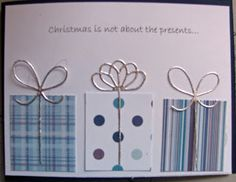 quick card - scraps of paper and bows