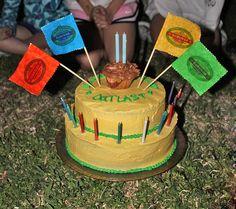 survivor birthday island my (now) 11yo's birthday cake!