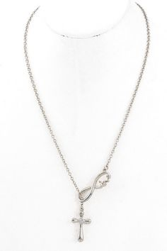 CROSS INFINITY LOVE necklace in silver