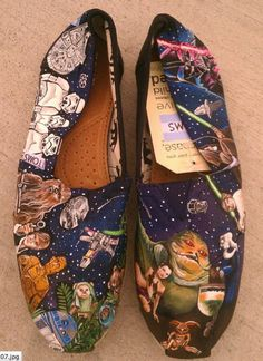 Star Wars painted TOMS