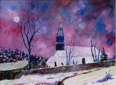 snow in our, painting by artist ledent pol