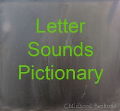 Letter Sounds Pictionary combines learning, art, and play. Visit for more ideas on how to play.