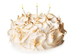 Birthday cake of the month for April from #FNMag: Lemon Meringue Cake