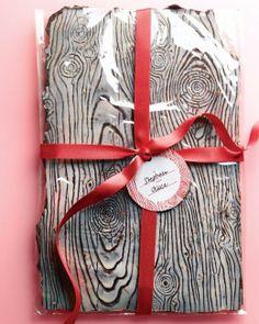 Chocolate-Almond Wood-Grain Bark Recipe