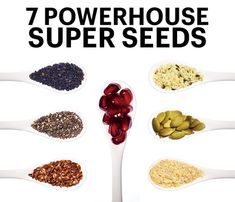For little guys, seeds are nutritional powerhouses. But which ones deliver the health and body benefits you crave most? Pomegranates (for slimming), Hemp (for toned muscles), Chia (for strong bones, Pumpkin (for energy), Sesame (for a healthy heart), Flax (for Cancer prevention) and Wheat Germ (for digestion). #SelfMagazine