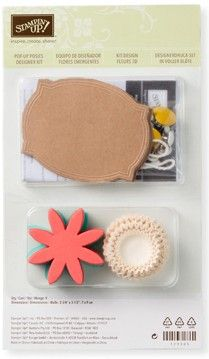What a lovely little kit and so many more uses than just tags! 131395 pop up posies