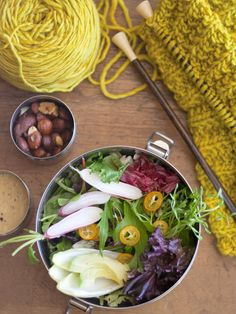 Market Basket Salad with Lemon Miso Dressing by bijouxs #Salad #Healthy