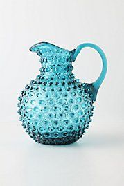 Hobnail Pitcher: Seemingly pulled from grandmother's cupboard, this is a decidedly old-world way to serve up afternoon refreshments.