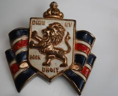 vintage WWII british war relief society pin by accessocraft