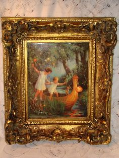 """Mouse over image to zoom    Have one to sell? Sell it yourself  Vintage Tarrant """"The Boat To Fairyland"""" Vienna Porcelain Plaque"""