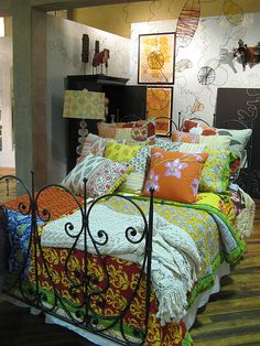 interior, pillow, bedroom decor, bed frames, guest bedrooms, color, boho, bohemian bedrooms, bohemian style