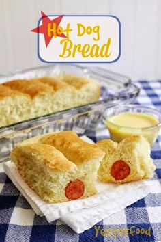 Hot Dog Bread with Dipping Sauces