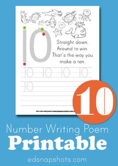 Learn to Write Numbers Ten Printables