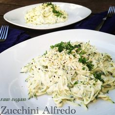 Raw Vegan Recipe - Zucchini Alfredo