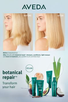 If you've dyed or color treated your hair, especially if you've gone blonder, you might be wondering how to repair bleachced damaged hair. You'll love Aveda's NEW Botanical Repair. Our revolutionary plant-powered, bond-building treatment formulated to strengthen, repair and protect hair from the inside out. The Botanical Repair Strengthening Leave-In Treatment helps smooth, detangle and condition damaged hair to leave it visibly healthier, softer and shinier after just 1 use​. Click to shop.