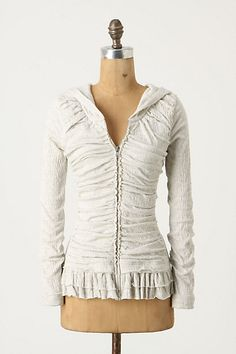 What a lovely hoodie, cute with jeans and ballet flats!