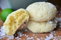 Chewy Key Lime Coconut Cookies