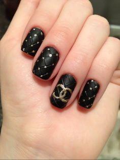 quilt nail, girls nails, chanel nail, chanel bags, nail polish, black nails, nail arts, avon products, nail ideas