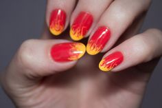 Flame nails.